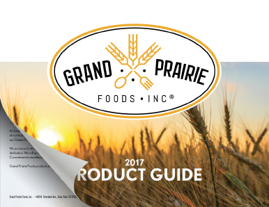 Grand Prairie Foods Product Guide Cover