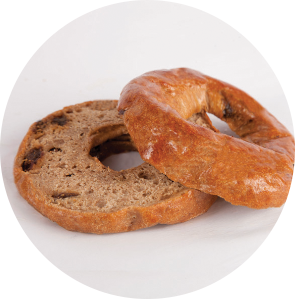 Grand Prairie Foods cinnamon raisin bagel