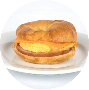 Ham, Egg and Cheese Croissant Sandwich