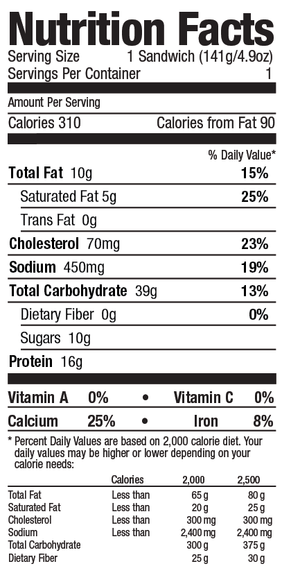 Gluten free bagel from Grand Prairie Foods nutrition facts