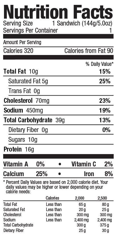 Gluten free bialy from Grand Prairie Foods nutrition facts