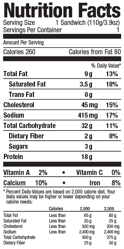 Grand Prairie Foods bagel nutrition facts