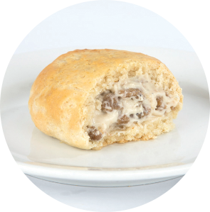 Sausage and Gravy Stuffed Biscuit circle image