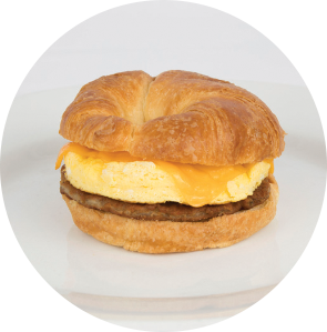 Sausage, Egg and Cheese Croissant Sandwich circle image