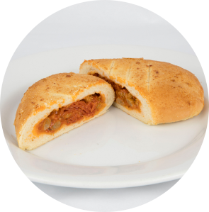 Sausage and Pepperoni Pizza Calzone