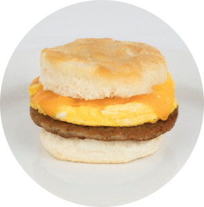 Sausage and Cheese Biscuit Sandwich