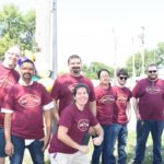 Grand Prairie Foods employees posing at their summer party