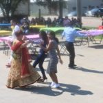 Grand Prairie Foods employees dancing at their summer party