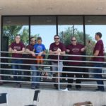 The Grand Prairie Foods team outside the company building during the company summer party